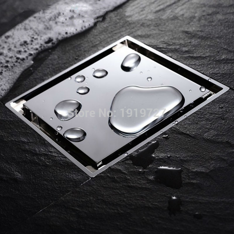 Bagnolux Luxuriy تصميم إزالة الروائح الحديثة نمط النحاس 100 مللي متر x 100 مللي متر مربع المضادة للرائحة دش الطابق استنزاف مع بلاط إدراج صر
