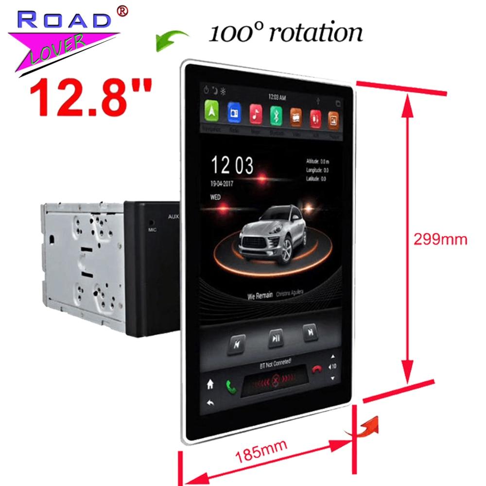 IPS Tesla Vertical Screen 12.8 Car Radio Moveable Autoradio For VW Ford Honda Hyundai Toyota Kia 2 Din GPS Navigation Head Unit