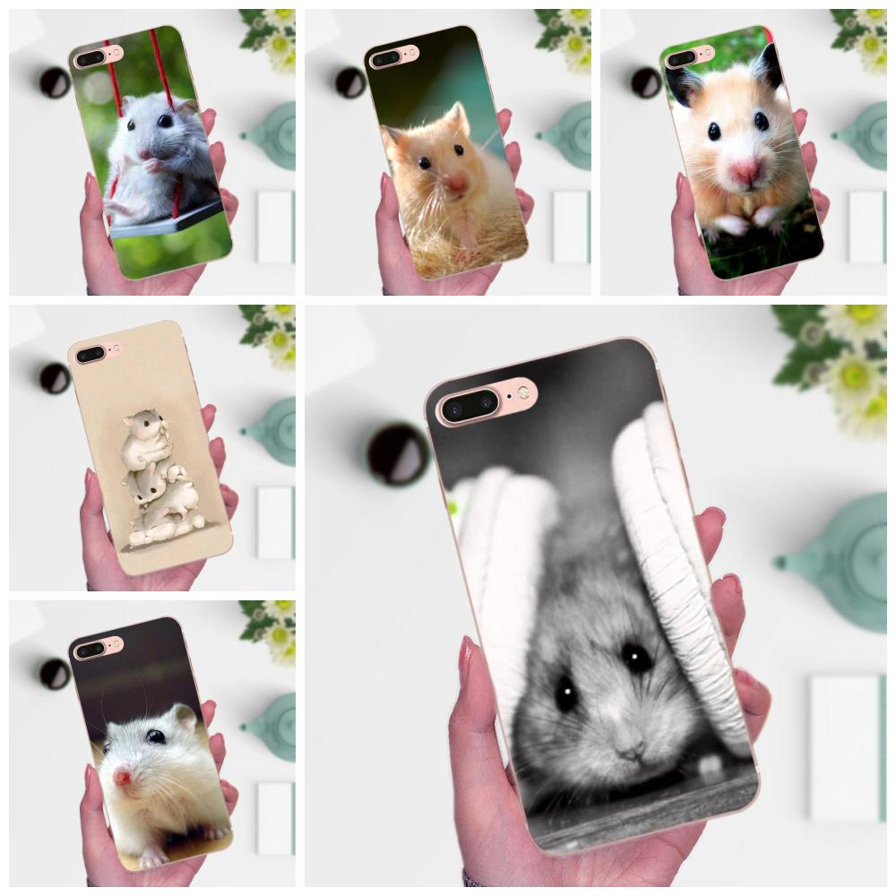 Para Huawei P7 Honor 4C 5A 5C 5X 6 6C 6A 6X 7 7X 8 9 V8 V10 Y3II Y5II Y6II G8 jugar Lite suave TPU teléfono Animal lindo hámster