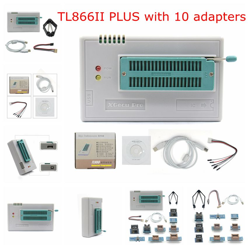 Original minipro TL866II PLUS V8.30/TL866A V6.85 USB EEPROM Universal programmierer 10/21/24 einzelteile IC Adapter