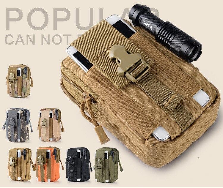 Bolsa de cintura táctica bolsa del teléfono móvil paquete deporte Mini Vice bolsillo para 4 buenas personas S350m G410 G503 S450m S451m S555m estilo R407