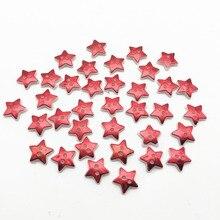 100 pièces 12.5mm métallique brillant rouge étoile 2 trous couture robe boutons chemise vêtements accessoires Scrapbook noël bricolage artisanat