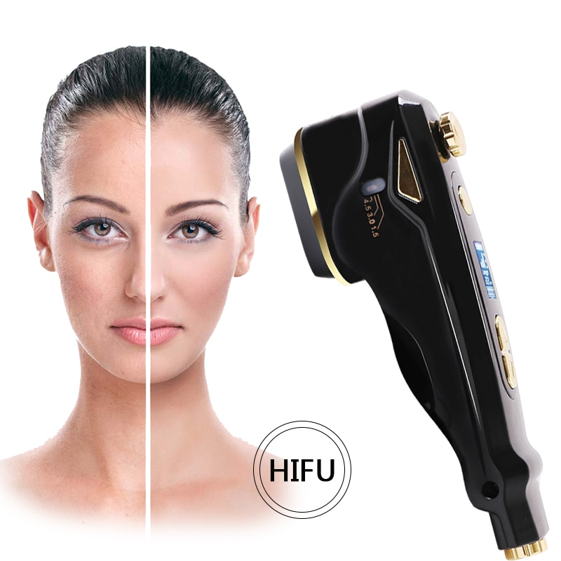 جهاز العناية بالبشرة بالموجات فوق الصوتية ، جهاز تجميل الوجه الصغير HIFU ، متعدد الوظائف ، تجديد شباب الوجه ، مضاد للشيخوخة والتجاعيد
