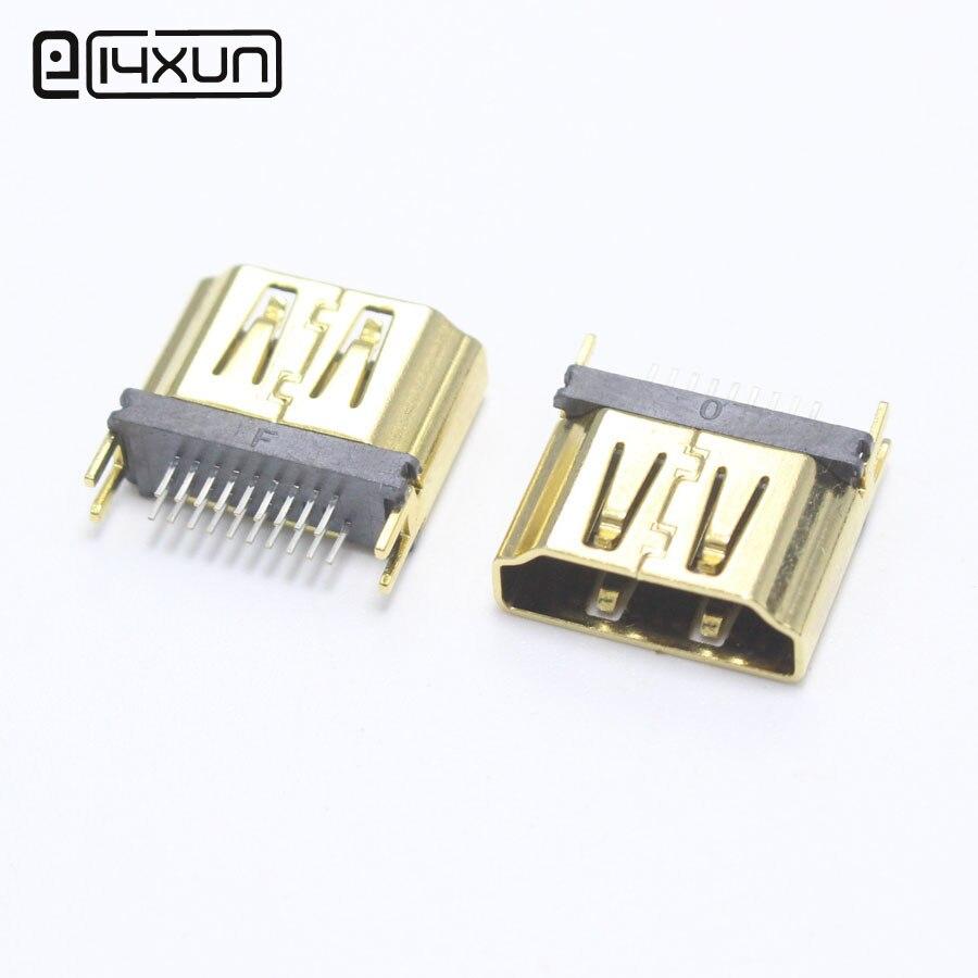 1pcs HDMI 19P Gold Plated Male Plug Digital HD Connector 9+10P Network set - top box Plugs Repair Parts