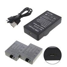 USB شاحن بطارية لكانون LP-E5 EOS 1000D 450D 500D ل EOS قبلة F قبلة X2 ل المتمردين Xsi hyq