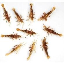 Realistic Shrimp Lure Soft Bait Shrimps Prawn Fly Fishing Baits Fish lures 6.5cm