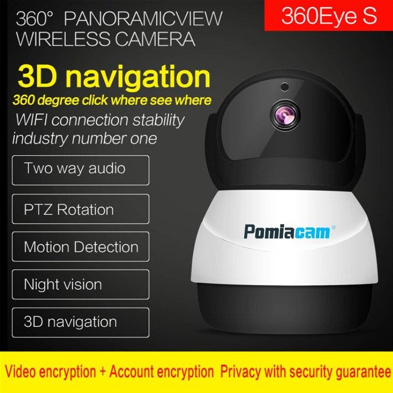 Nuevo 360 ojos inalámbrico muñeco de nieve robot wifi IP Cámara EC50 2MP 360 grados PTZ seguridad del hogar CCTV Cámara bebé Monitor intercomunicador de voz