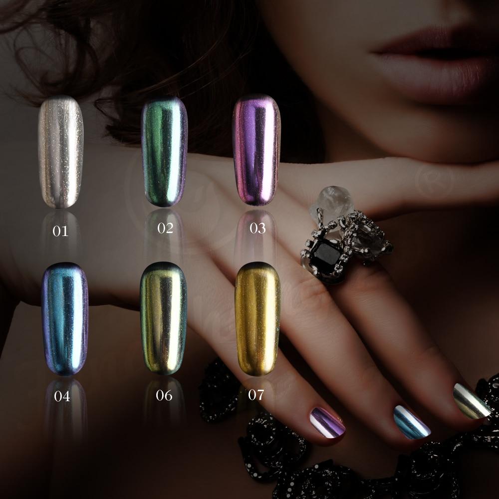 E & A Unicorn хромированный зеркальный ногтевой порошок, металлический голографический лак для ногтей, порошок, пыли