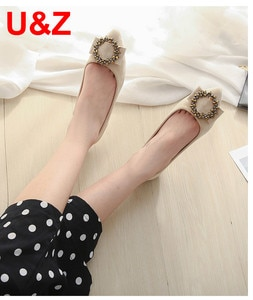 Beige/Black/brown Flannel leather Female shoes Cute pointy toe flats Go street shoes,Lovely crystals Super soft women Flats Sale