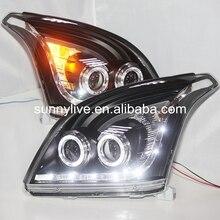 Lampe frontale 2700/4000 pour TOYOTA   Pour FJ120 LC120 Prado 2003-2009 ans avec objectif de projecteur au xénon BI, boîtier noir