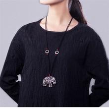 Nouveautés femmes chandail colliers offre spéciale tibétain argent éléphant pendentif bijoux vintage achats en ligne inde BX003