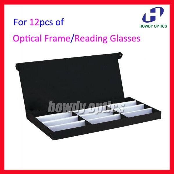 Розничная торговля 12А очки Оптическая оправа Очки для чтения с экрана кейс коробка лоток для образцов