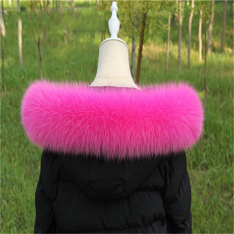 Fox Fur Collar For Hood Natural Trim Scarf Big 100% Real Custom Made