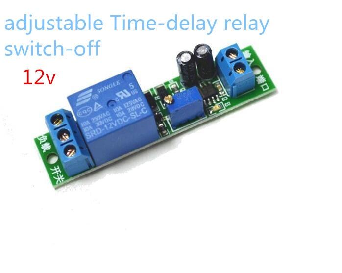 Модуль реле времени задержки, таймер выключения времени, светодиодный дисплей постоянного тока 12 В, умное управление, реле времени/задержка