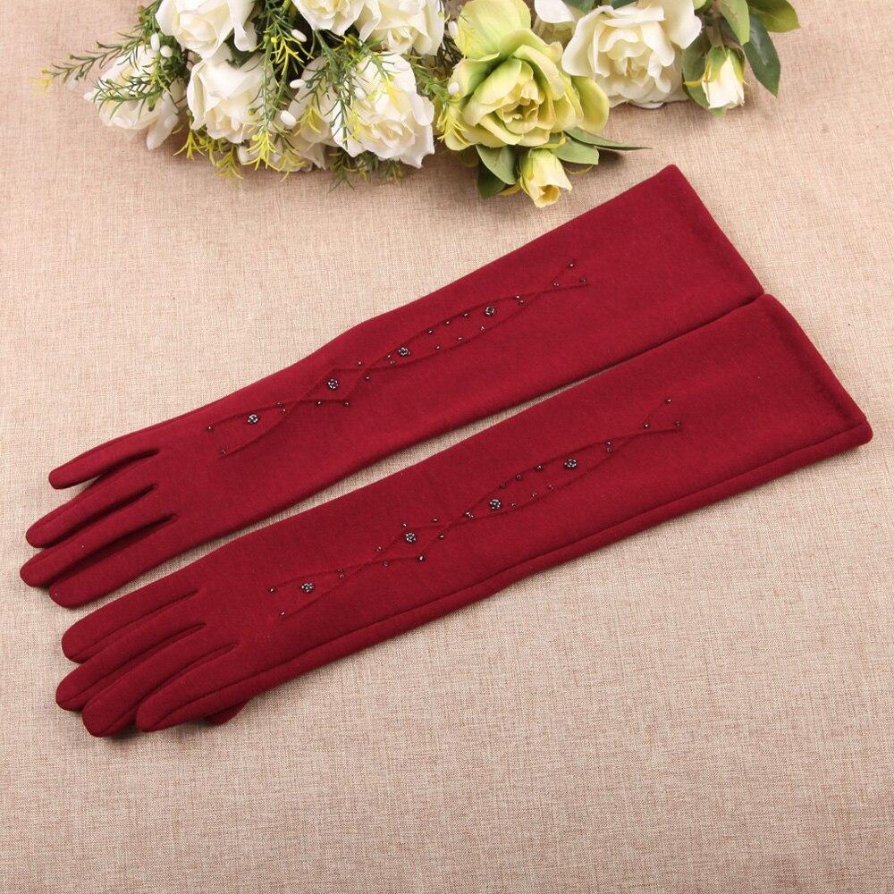 Herbst Winter Neue Frau Handschuhe Medium Und Lange Abschnitt Gesponnen Samt Finger Touchscreen Ärmel Wärmer Frau BL024N1