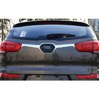 for KIA SportageR High quality chrome trunk lid/cover chrome trim(near logo)/rear door trim Accessories 2011 2012 2014 2015