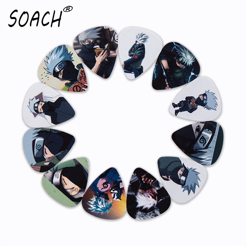 SOACH 10pcs 3 kinds of thickness new guitar picks bass Japanese anime man pictures quality print pic