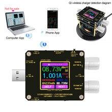 QI détecteur de charge rapide sans fil Bluetooth android PC app USB testeur de couleur tension de courant indicateur de charge voltmètre DC
