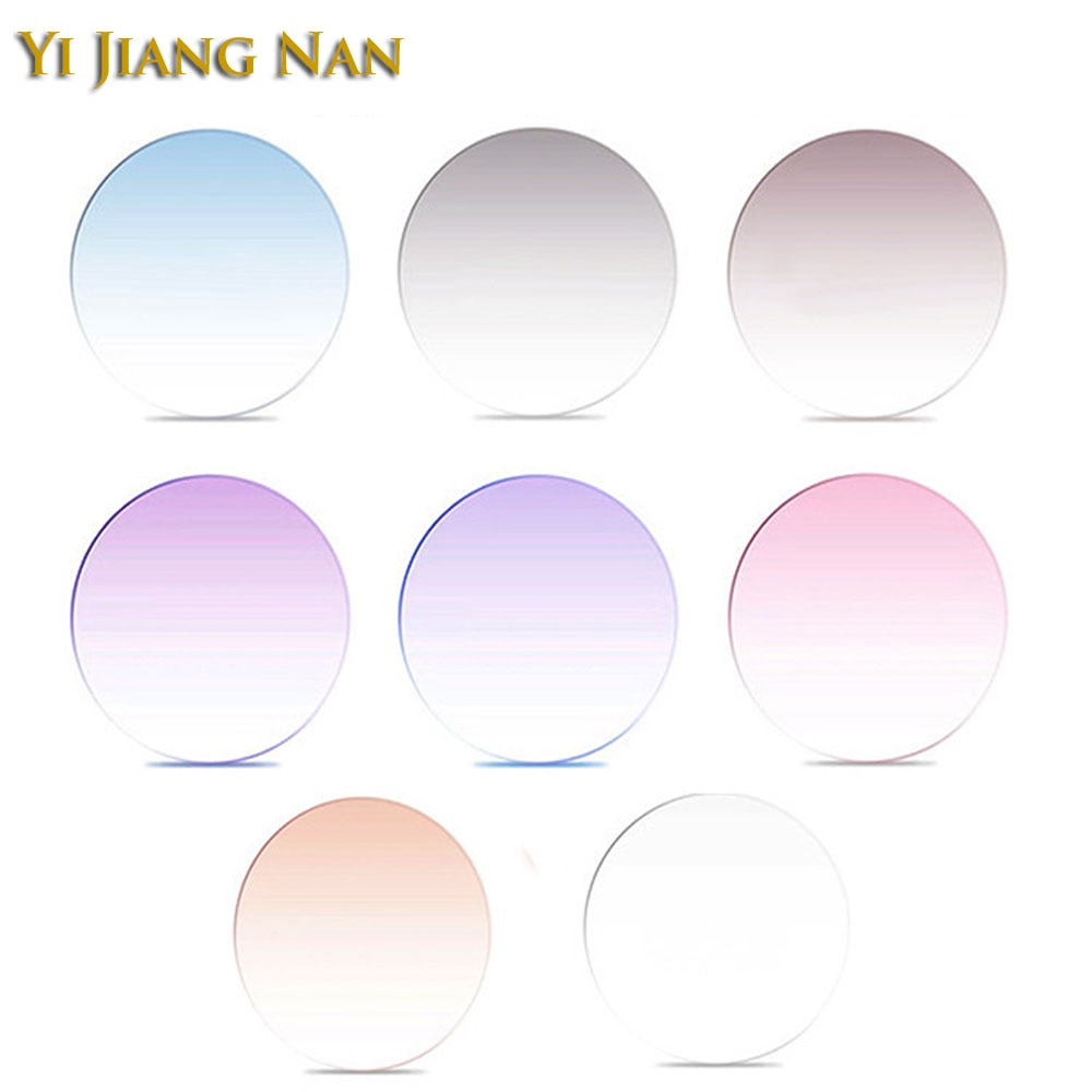 Marca 1,61 índice M-8 1,67 índice M7 lentes fino tinte lente personalizar lentes de colores