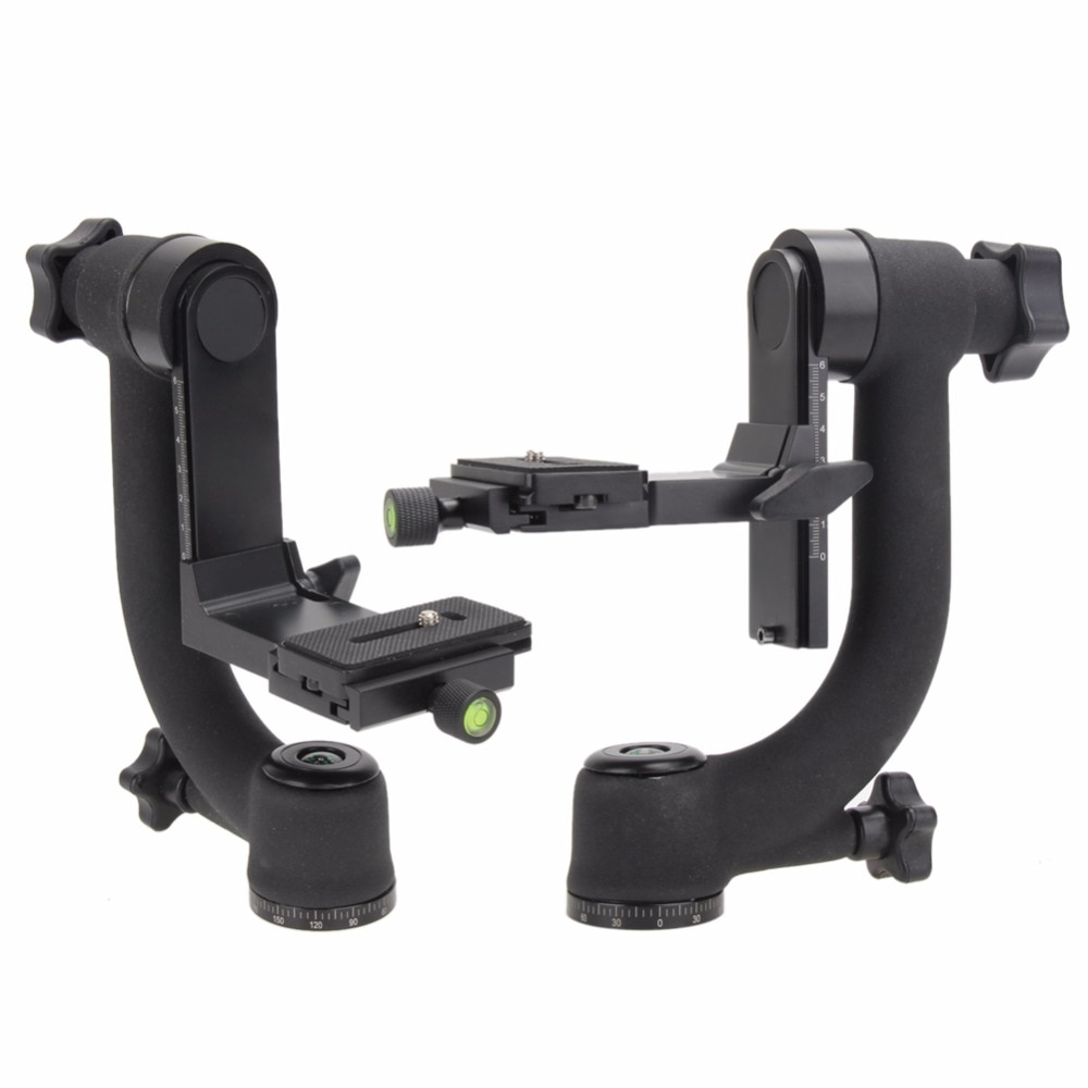 High quality  professional adjustable 360 Swivel pro Panoramic Gimbal head for Cameras DSLR CANON SONY NIKON