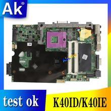 AK Laptop motherboard for ASUS K40ID K50ID K40IE K50IE X5DI K40I K50I Test original mainboard DDR3 100% Work  15.6-inch