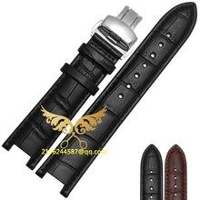20*11 MM 22*13mm haute qualité en cuir véritable vachette bracelet de montre pour GC avec boucle en acier inoxydable livraison gratuite