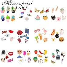 Эмалированная брошь на булавке в виде милых животных, собак, кошек, фруктов, мороженого, нагрудный воротник для женщин, шапка, шарф, заколки, набор брошей