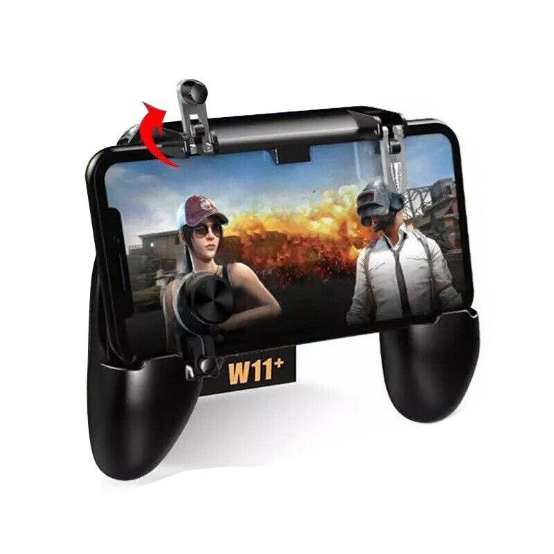 W11 + PUGB controlador de juego para móvil libre de fuego PUBG móvil Joystick Gamepad de L1R1 Joystick disparador para IOS Android teléfono móvil