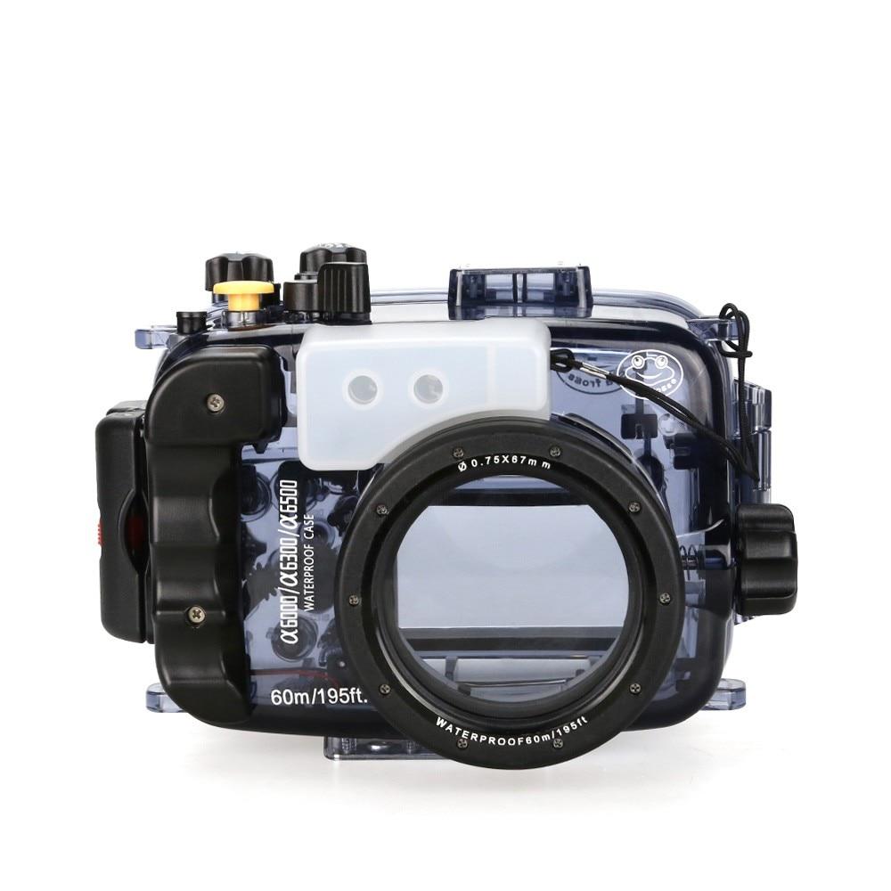 SeaFrogs 40 m/130ft impermeable Cámara subacuática funda carcasa para A6000 A6300 A6500 se puede utilizar con lente de 16-50mm