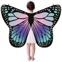Cape colorée pour enfants filles   Cape style papillon, écharpe monarc, Cape décorative aile, fournitures pour fête Festive