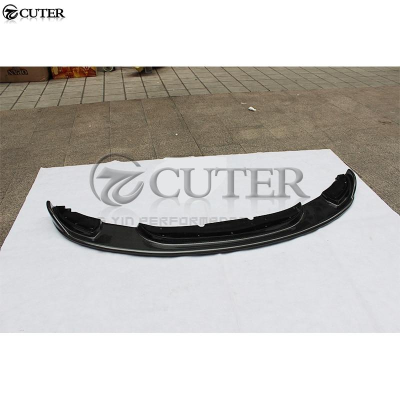 E92 325i 330i 335i Стиль углеродного волокна передний бампер спойлер для BMW E92 M-TECH Бампер Комплект 05-09