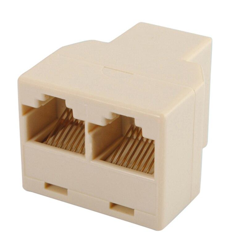 Ligero RJ45 CAT 5 6 LAN Ethernet adaptador de conector divisor de la PC