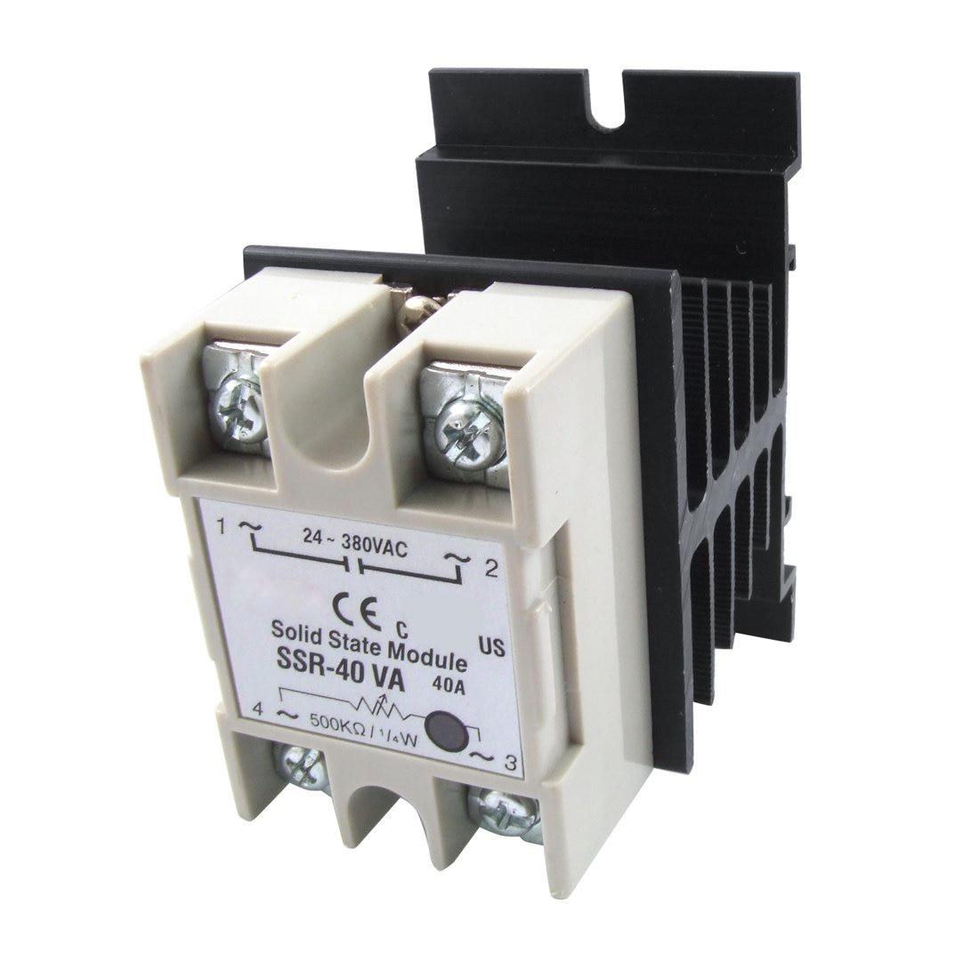 Regulador de resistencia de voltaje LHLL relé de estado sólido SSR 40A 24-380V AC w disipador de calor