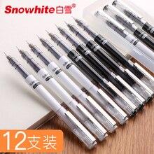 SNOWHITE X88 stylo à bille couleur Nude Type daiguille complète séchage rapide noir 0.5mm 0.38mm mignon ensemble de stylo à Gel stationnaire