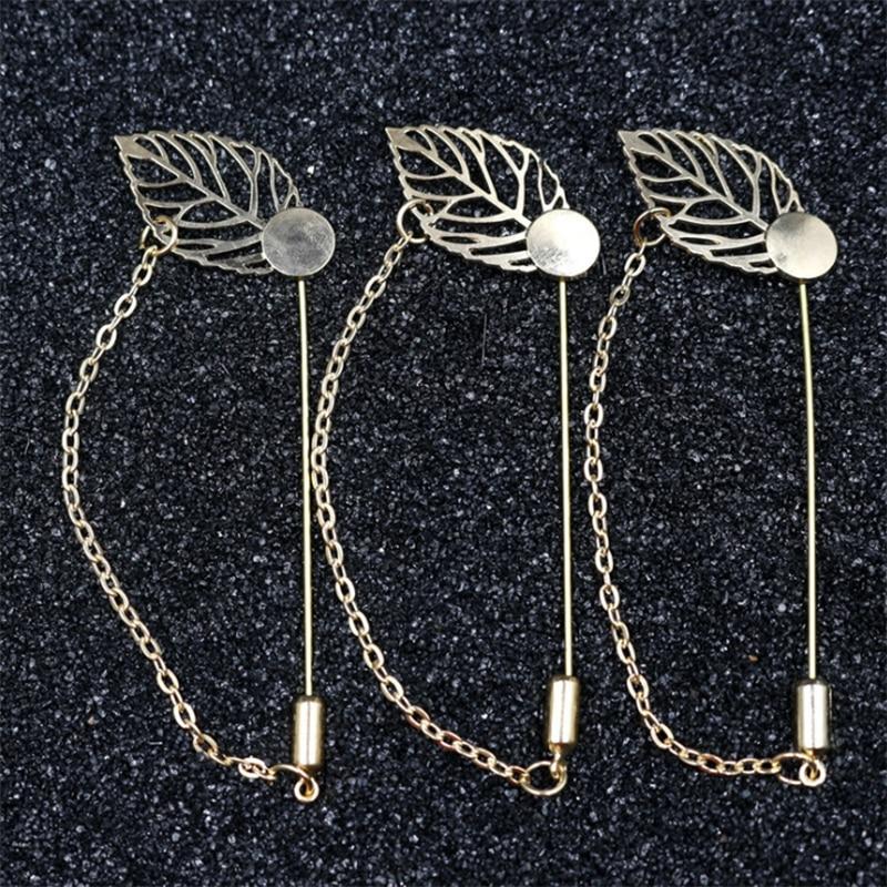 Conception de chaîne en cuivre plaqué, chapeau en cuivre broches, bâton de goupilles de revers, base pour les bijoux pour hommes