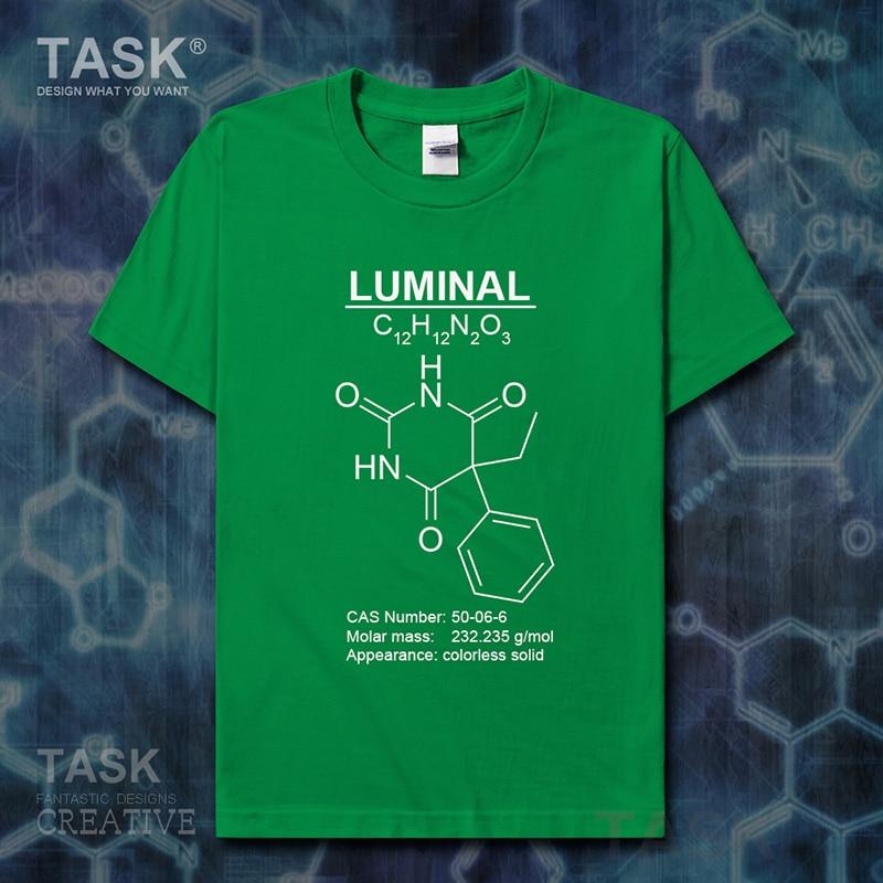 Luminal Molecular Formula Chemistry Subject t-shirt Short sleeve clothes mens t shirt new Tops sweatshirt sports cotton 01