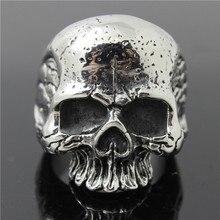 1 pièce nouvelle taille 7-14 Cool anneau de crâne 316L en acier inoxydable hommes garçons nouvel anneau de crâne