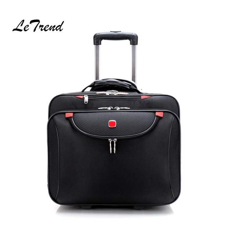 Letrend деловые Оксфордские ролики для чемоданов, 18 дюймов, мужские многофункциональные чемодан на колесах, сумка на колесах, сумка для путешес...