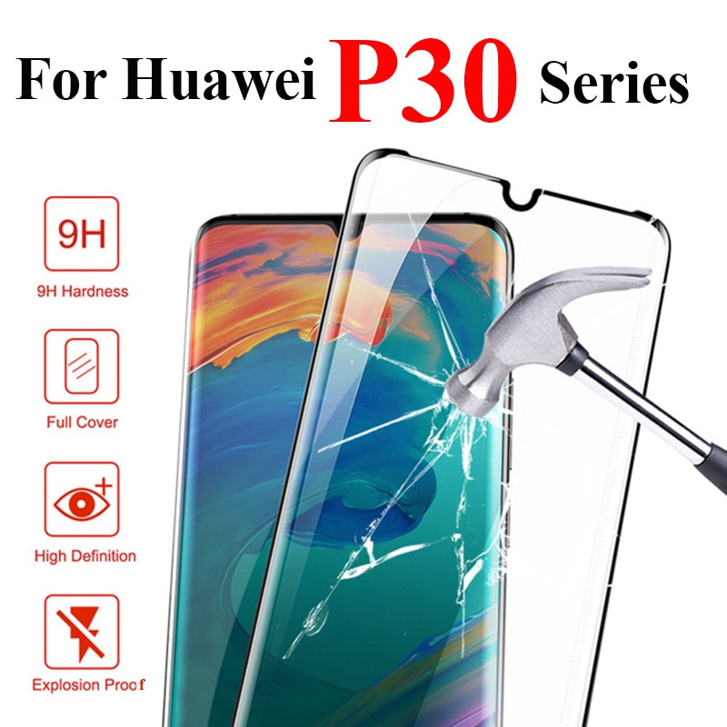 Vidrio protector 3D para huawei p30 pro lite protector de pantalla de vidrio templado protector de pantalla en huaway huawie p 30 lite 30pro completa