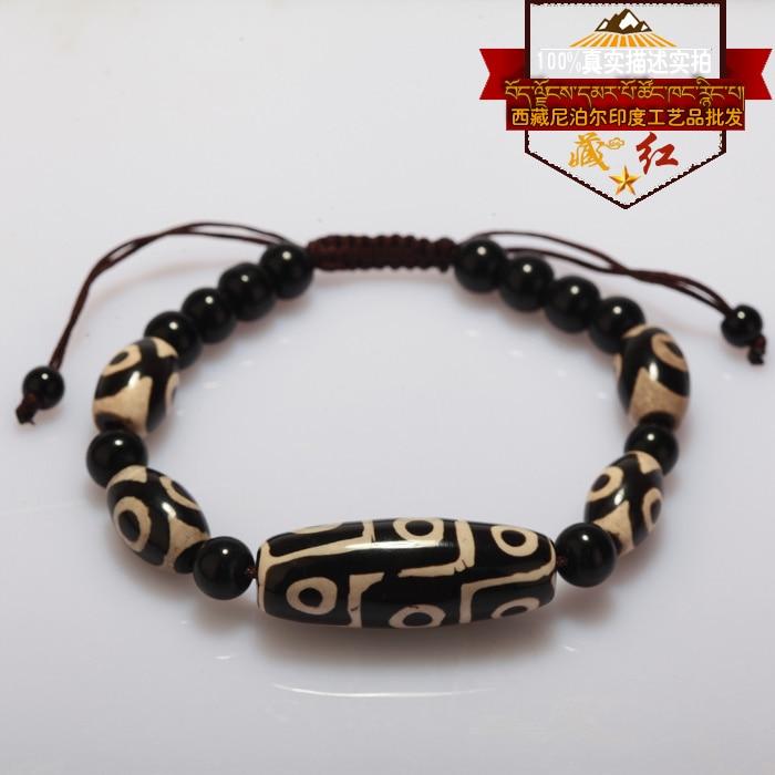 Pulsera de cuentas tibetanas Dzi de alta calidad, piedra Natural, 9 ojos y 3 ojos, nuevo diseño, pulsera de cuentas Fengshui, envío gratis