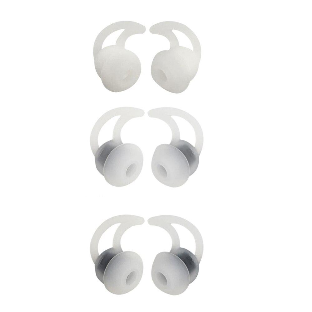 6 uds. Accesorio duradero de aislamiento de ruido de doble brida con gancho de silicona deportes Mini auriculares inalámbricos para BOSE QC20 QC30