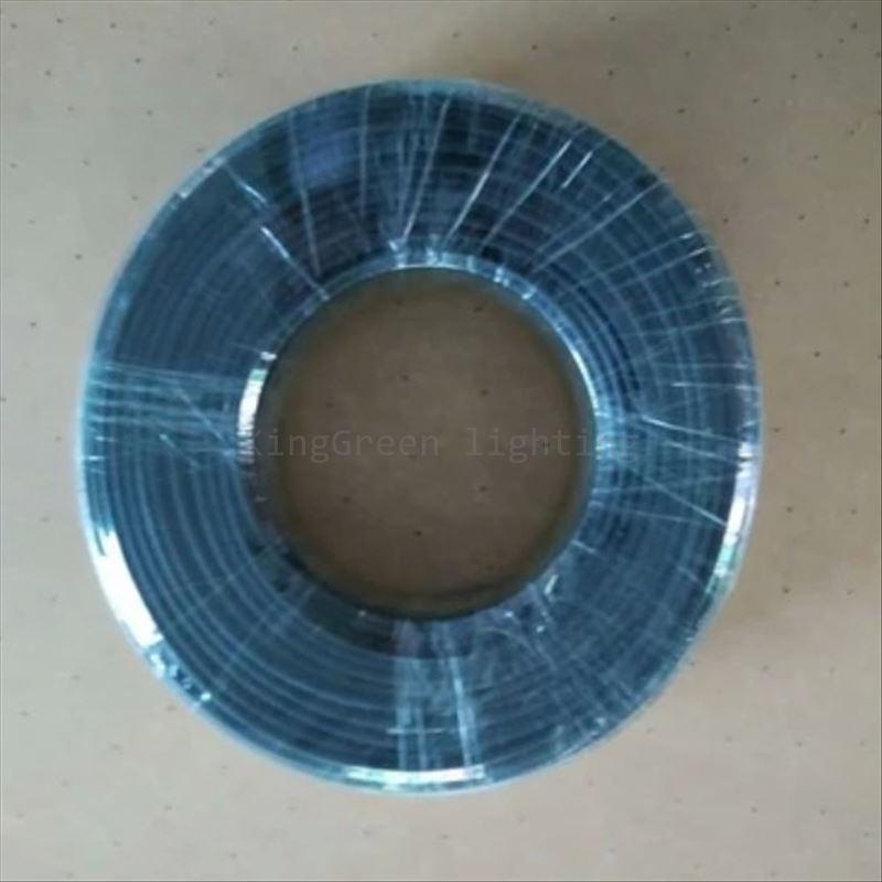700 m/rollo interior 1,5mm exterior 2,6mm diámetro negro PMMA extremo resplandor plástico opticas cable de fibra para luces de techo cielo estrellado