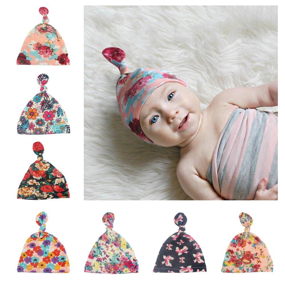Gorro de bebé turbante con moño para bebé, gorro de nudo para bebé, regalo de ducha para niñas, elástico 1 ud.