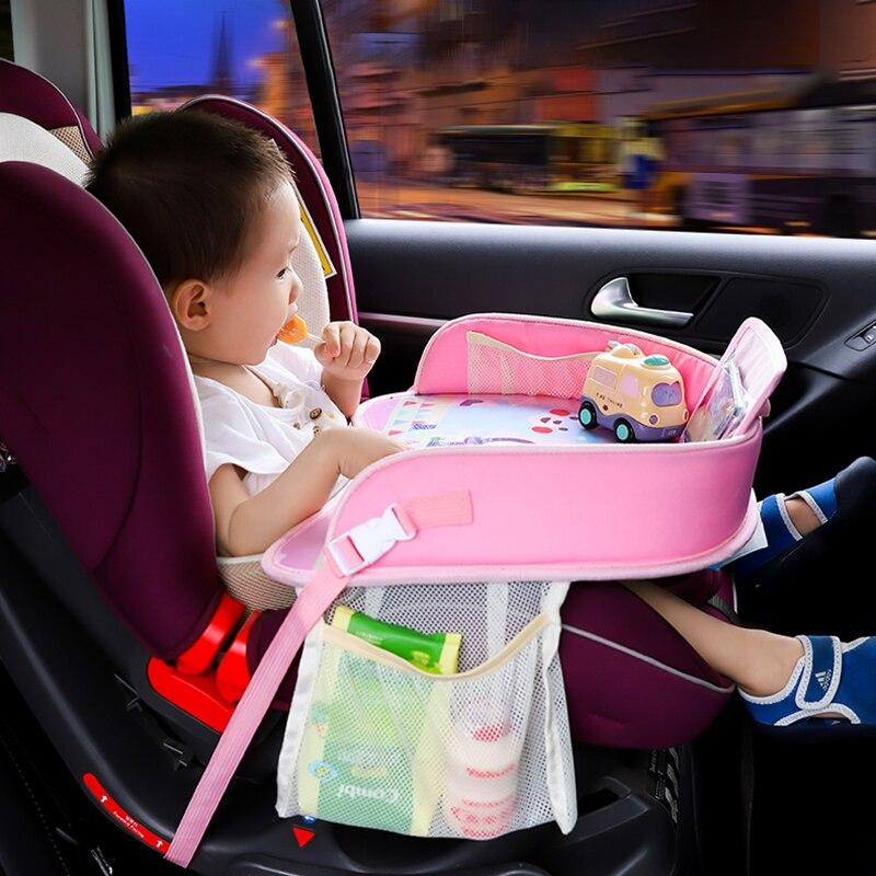 Nueva bandeja de viaje para niños para coches, asiento de seguridad de asiento, placa de asiento de coche, mesa de Pintura de coches, accesorios multifunción para silla de paseo