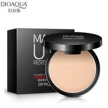 BIOAQUA-poudre minérale pour le visage, Base minérale pressée, maquillage mat, correcteur, contrôle de sébum lisse, Palette de contouring, poudre de finition cosmétiques
