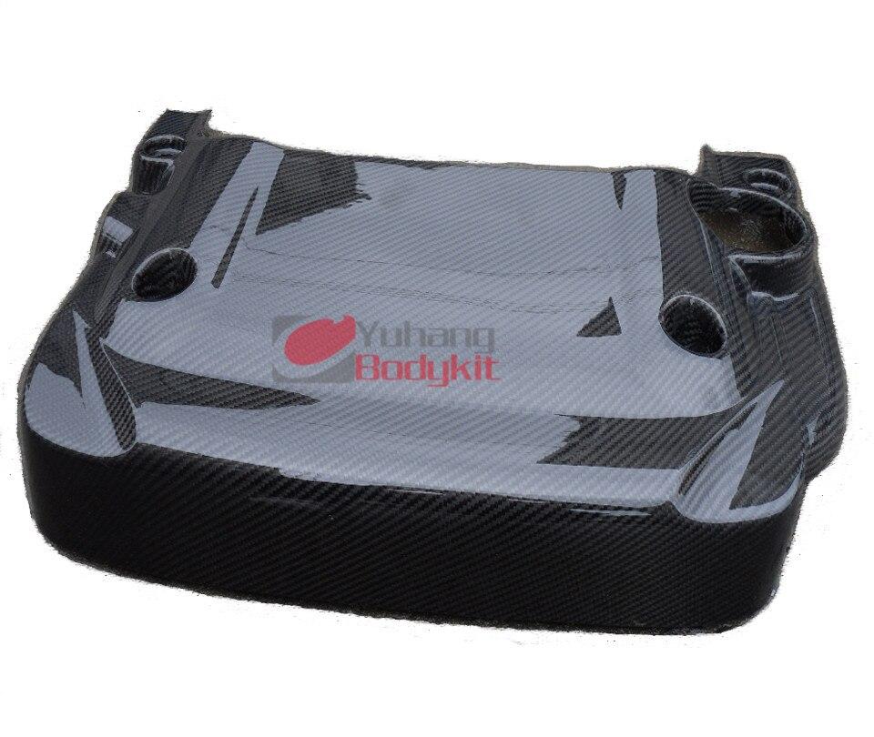 Cubierta de motor de 350Z torneada en coche, ajuste CF para Estilismo de coche, fibra de carbono