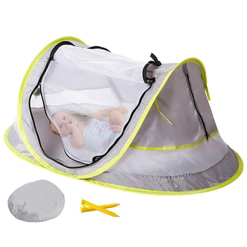 UPF 50 + Sun Shelter Pop Up Moskito Net Baby Tragbare Baby Reise Bett Strand Zelt und 2 Pegs