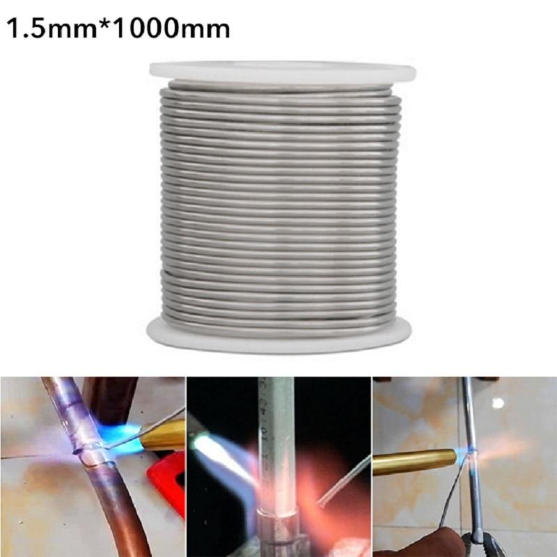 1,5/2,00mm * 1m/2m/3m/5m cobre aluminio baja temperatura Alambre de soldadura cobre-aluminio varillas de soldadura para acero inoxidable