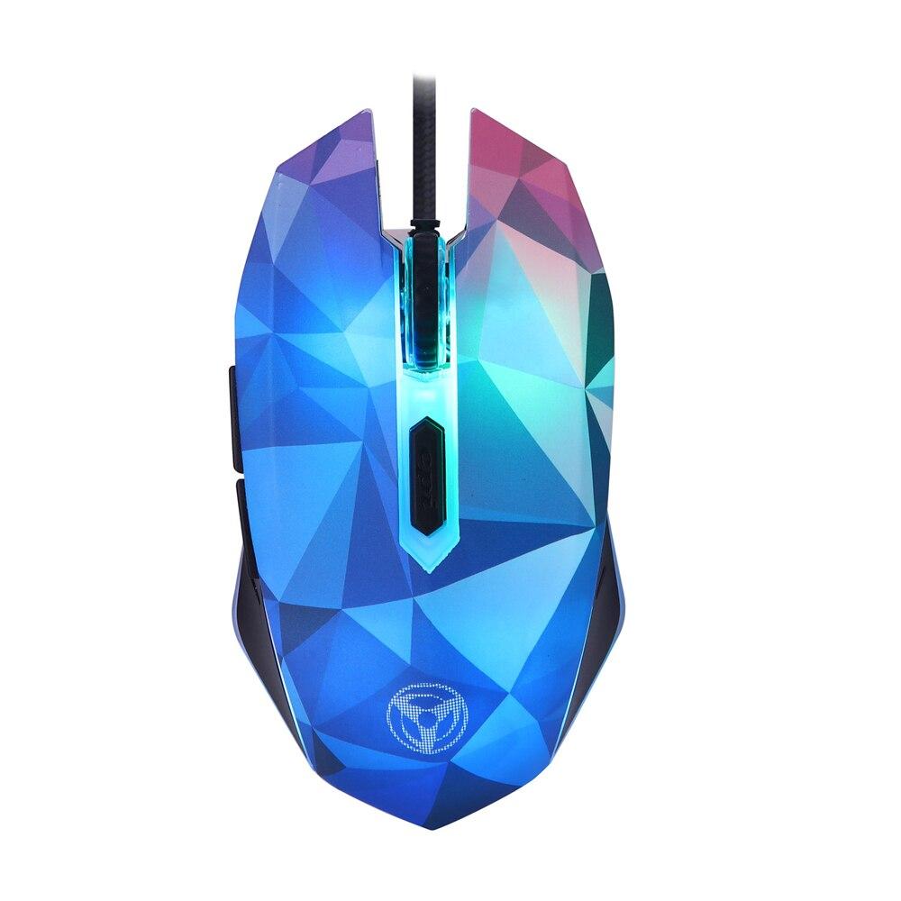 Ratón Original Hongsund Dazzle color diamante edición Gaming ratón con cable Gamer ratón óptico para jugador profesional
