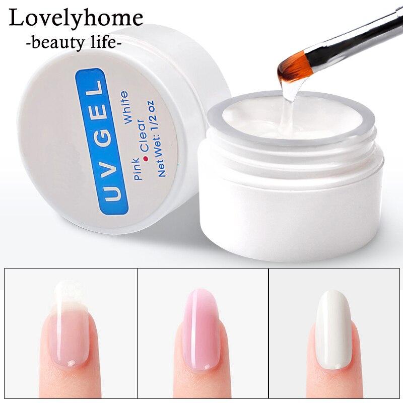Nagel Verlängerung Gel 3 farben Poly Gel Builder Gel Für Nägel Finger Extensions Form Tipps UV Gel Polnischen Kunst Lack kits Aufkleber